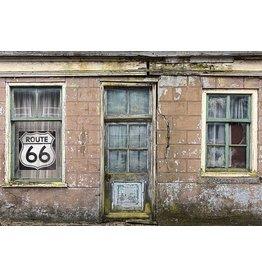 MondiArt Malerei Glas Altes Haus 80x120cm