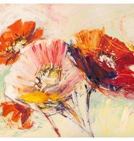 MondiArt Glas-schilderij 80x80cm Fleur