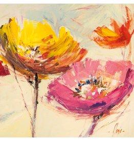 MondiArt Glasmalerei 80x80cm Fleur 1