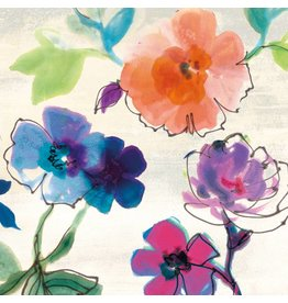 MondiArt Schilderij glas 80x80cm Fleur3