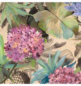 MondiArt Glasschilderij 80x80cm Hortensia