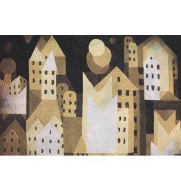 MondiArt Dibond Malerei Moderne Stadt 80x160cm