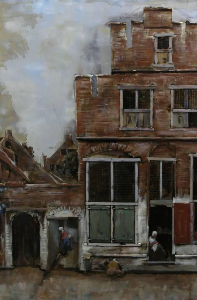 Malerei 3d Eisen Straße In Delft 80x120cm