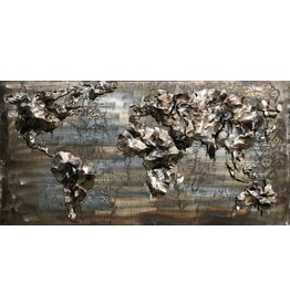 3D-Malerei Eisen 60x120cm Weltkarte 10