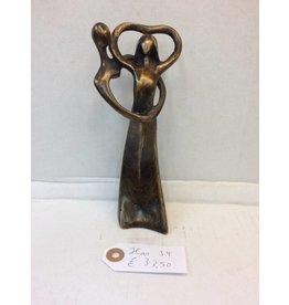 Eliassen Bronze Figur Paar Herz klein