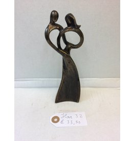 Eliassen Bronzen beeldje Koppel ring klein