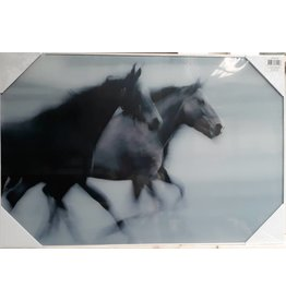 MondiArt Glasmalerei 2 Pferde 60x90cm