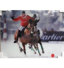 MondiArt Glasmalerei Polospieler Solo 60x80cm