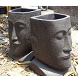 Eliassen Moai pot rechte achterkant