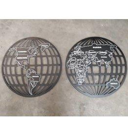 Eliassen Wanddekoration Globe 2 Stück