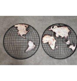Eliassen Wanddekoration Globe 2 Stück Globe