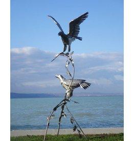 Eliassen Paar vogels op boomstronk arenden exclusief