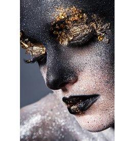 Ter Halle Glasmalerei Schwarz + Gold 80x120cm