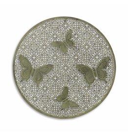 Eliassen Muurdecoratie rond met 4 vlinders