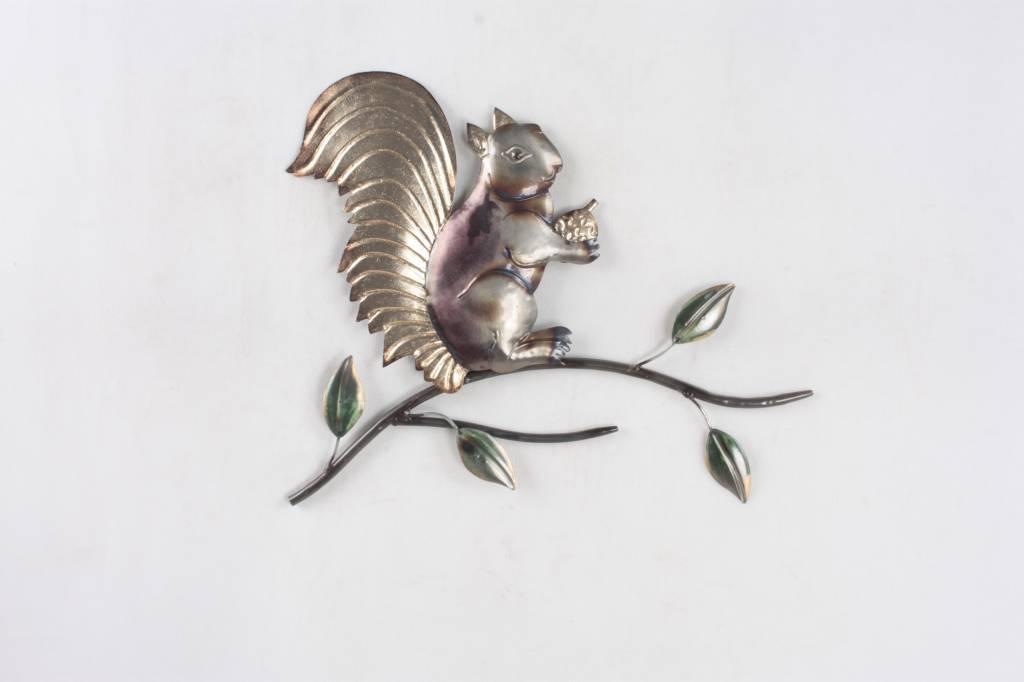 3d wanddecoratie eekhoorn metaal eliassen home & garden pleasure