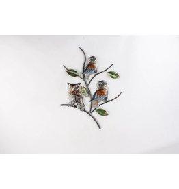 Eliassen Wanddekoration Eulen 3D auf Zweigmetall