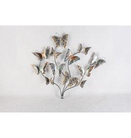 Eliassen 3D muurdecoratie Vlindertak metaal