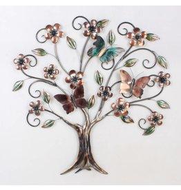 Eliassen 3D wanddecoratie Vlinderboom metaal