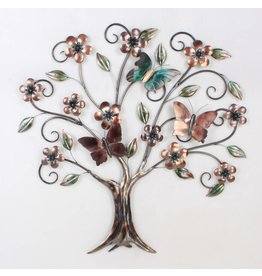 Eliassen 3D Wanddekoration Schmetterling Baum Metall