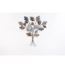Eliassen 3D Wanddekoration Eiche verlässt Metall