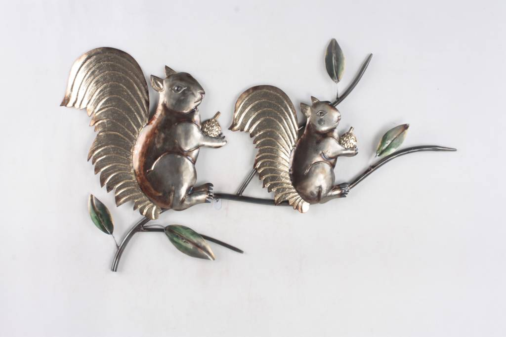Eliassen Eichhörnchen Metall der Wanddekoration 3d