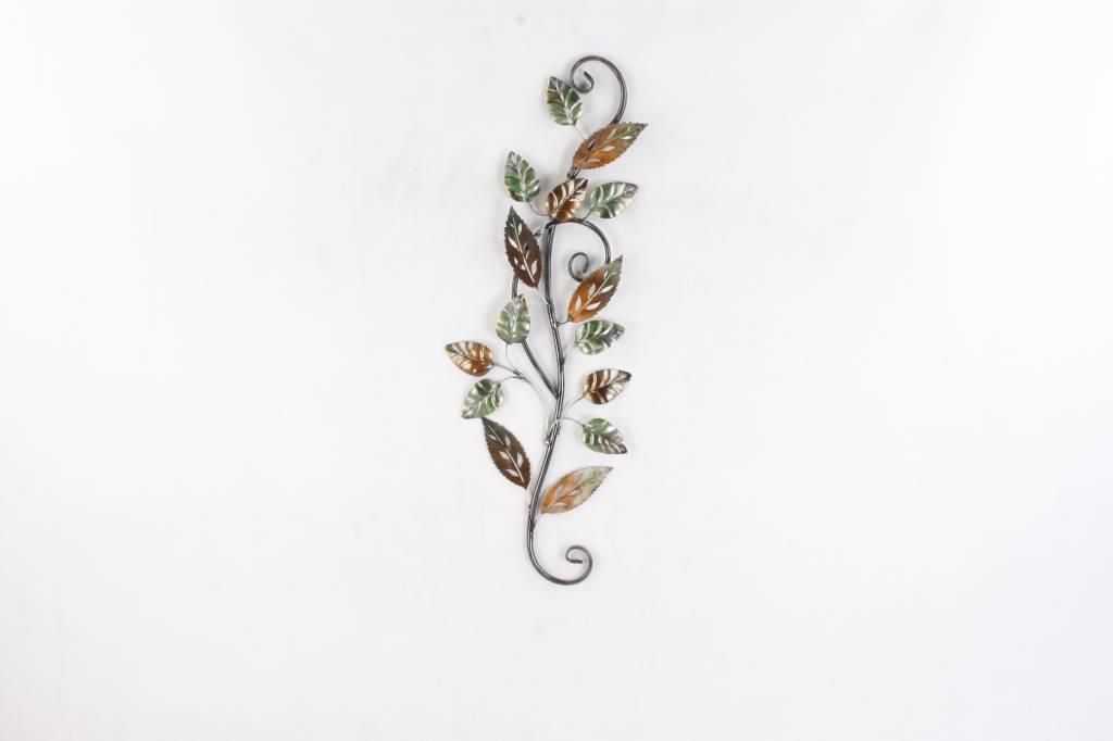 Eliassen Metallzweig der Wanddekoration 3d mit Blättern