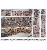 Eliassen Wanddecoratie 3d metaal Tak met Blaadjes
