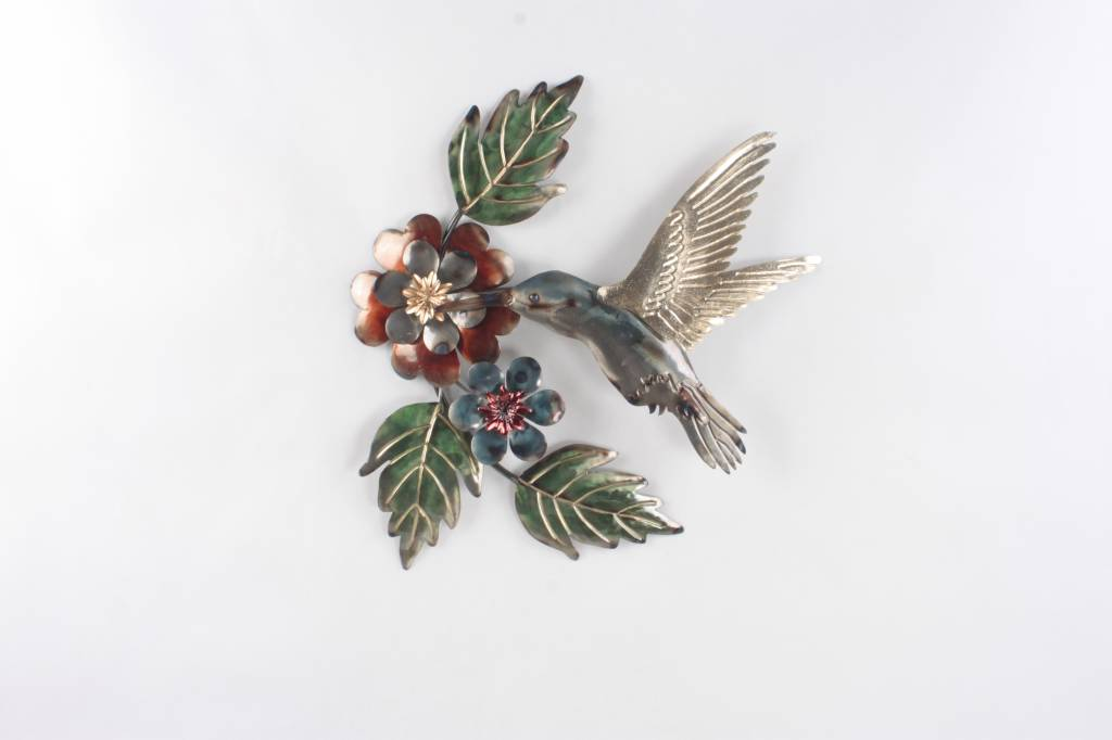 Eliassen Muurdecoratie 3d Kolibrie metaal