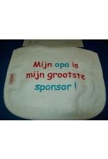 Mijn opa is mijn grootste sponsor slab