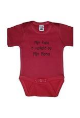 Eigen tekst Babyromper short sleeve