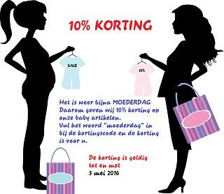 Korting op baby artikelen bij Carmar Trends