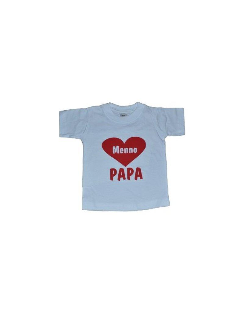 love papa met naam in hart