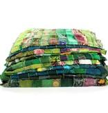 Zijden sjaal in turquise tinten