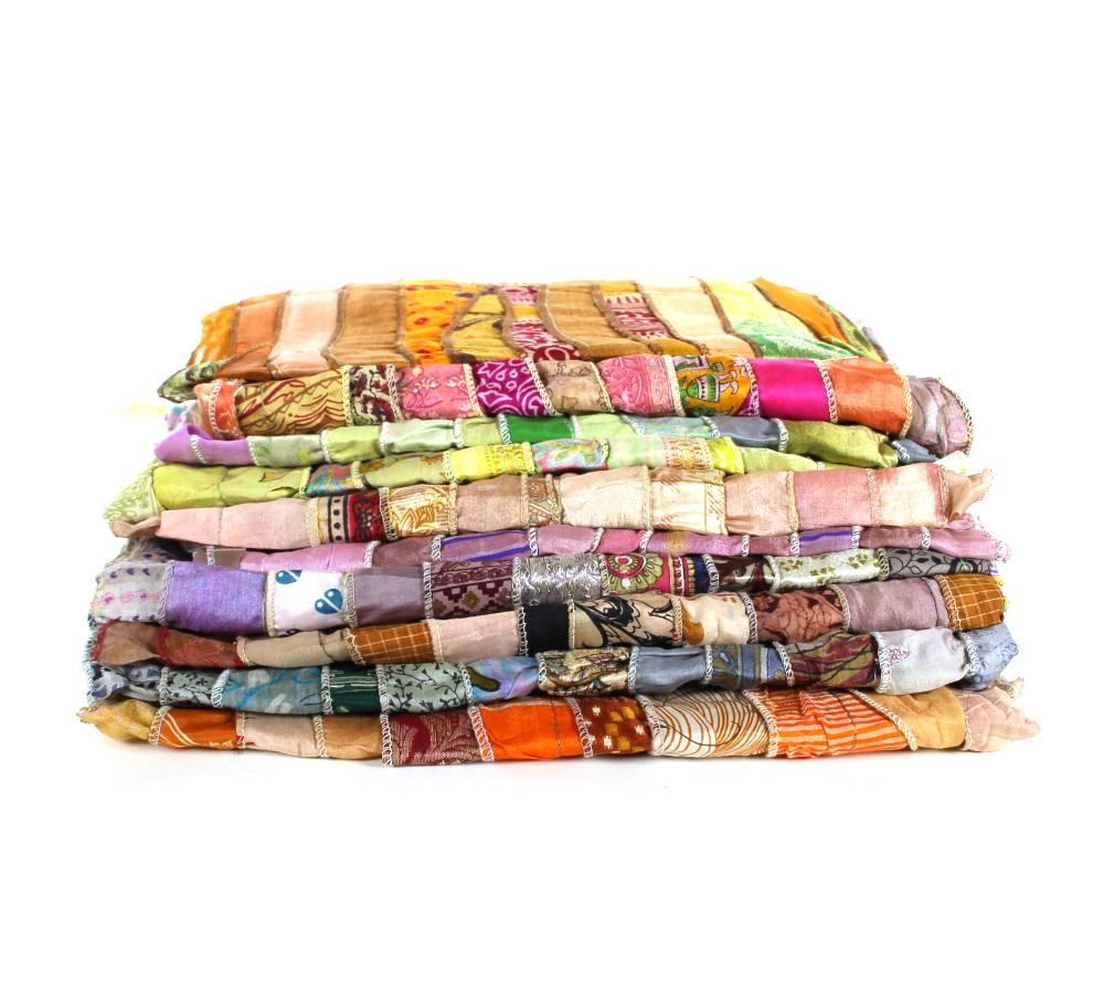 Zijden pareo/sjaal in lichte tinten