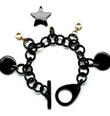 "Bracelet black horn with charms ""Sparkles"""