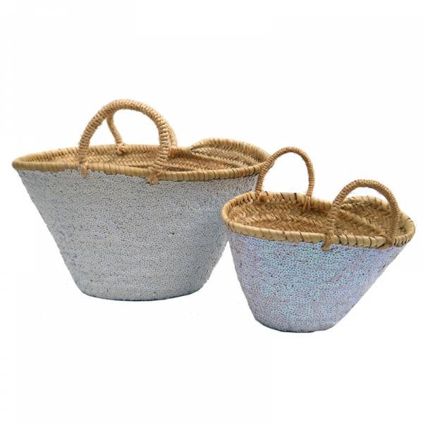 Baskets grey sequin big and small