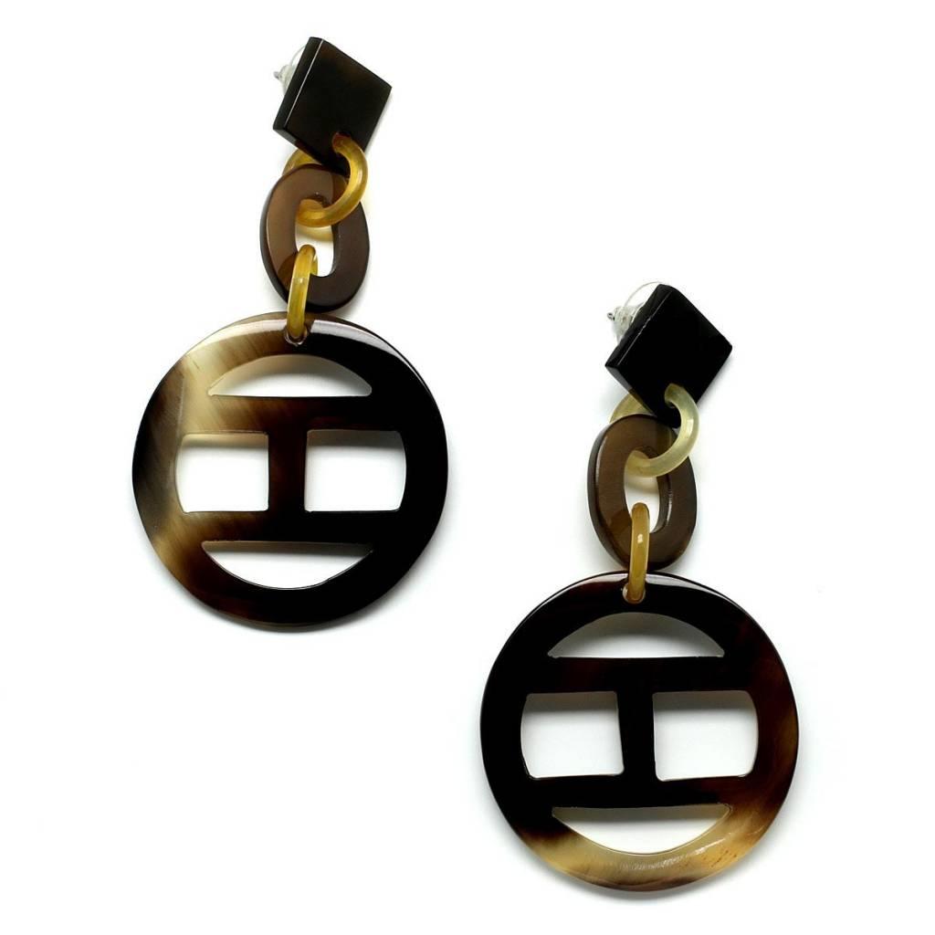 """Horn earrings """"Square"""""""
