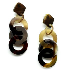 "Horn earrings ""Circles"""