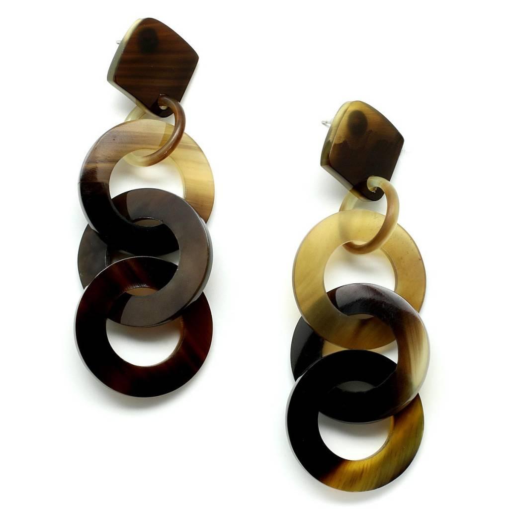 """Horn earrings """"Circles"""""""