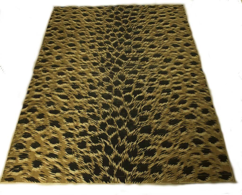 Carpet tapijt van houten blokjes