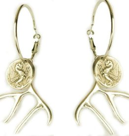 Deer earrings Frida Kahlo
