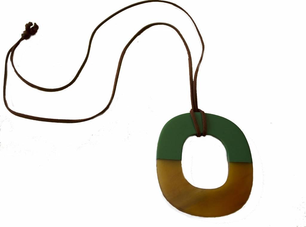 """Horn pendant """"Aqua"""""""