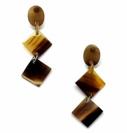 "Earrings horn ""Tina"""