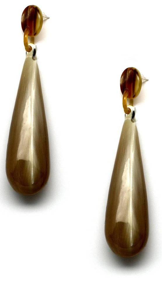 "Horn drip earring  ""Iman"""