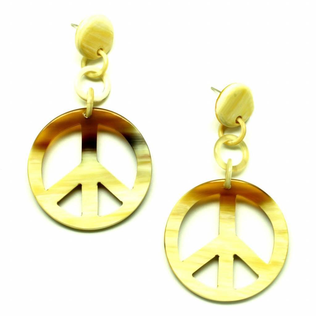 """Hoorn oorbellen """"Peace"""""""