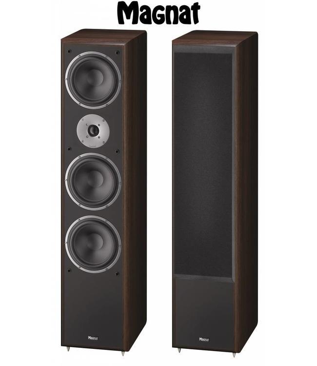 Magnat Monitor Supreme 1002 zuil luidspreker met veel vermogen en een warm geluid kleur bruin