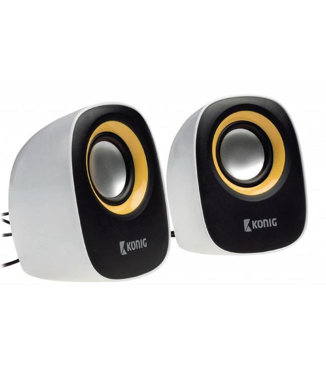 Konig Actieve speakers met USB voeding, werken dus zonder batterijen op pc of laptop