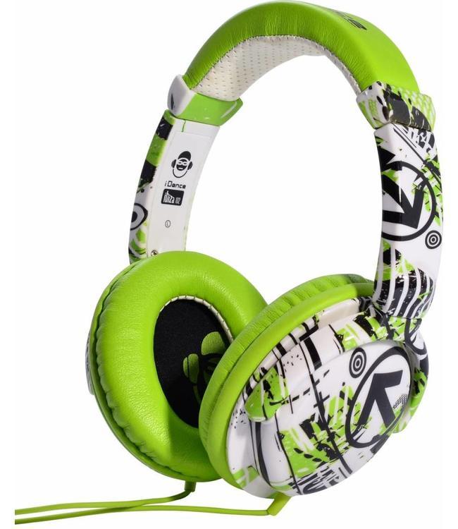 iDance Ibiza 102 groene koptelefoon met een goed geluid en microfoon voor handsfree bellen