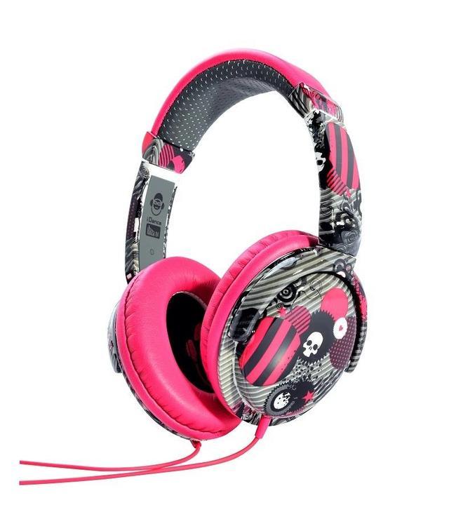 iDance Ibiza 104 roze koptelefoon met een goed geluid en microfoon voor handsfree bellen