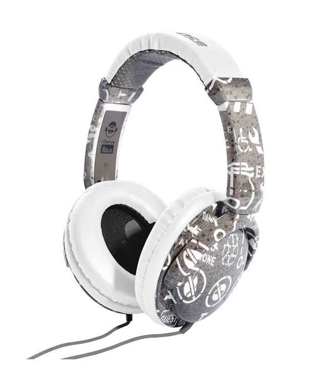 iDance Ibiza 103 grijze koptelefoon met een goed geluid en microfoon voor handsfree bellen